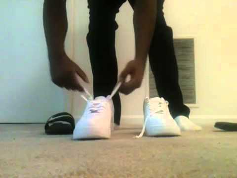 Air Force One Schuhe Angezogen
