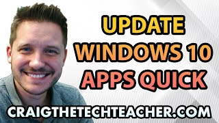 """This video is brought to you by: http://www.craigthetechteacher.com - Many people extremely frustrated win the Windows 8 operating system was released and forced users into the Windows App interface. This was a justified frustration mostly because many of us didn't actually have a mobile device where a touch screen style interface was needed - but they gave it to us anyway.Something good game out of that ordeal, however. The Windows 10 approach to apps gave us a smaller version of the Tile App screen right within our start menu. It also gave us access to all those nifty Windows apps from the app store. If you're like me, you like notifications, and many apps such as YouTube, Facebook and Twitter will give you those notifications right on your Windows 10 desktop.Where there are apps there are updates. Many people do not realize that all of these updates don't simply """"magically run"""" like most Windows updates and they need to be run manually. This video will show you how it's done."""