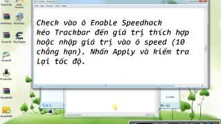Hướng dẫn dùng Cheat Engine để hackspeed game