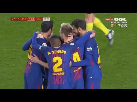 Barcelona vs Celta Vigo ● All Goals & Highlights HD ● 11 Jan 2018 ● Copa del