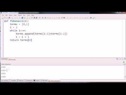 Iterative Fibonacci Function Example
