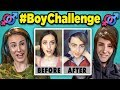 Adults React to #BoyChallenge - Girls Turn Into Boys (Musically/TikTok Compilation)