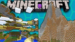 Minecraft 1.8 Snapshot: Custom Sky World, Beehive Border, Huge Smooth Terrain, US Realms Release