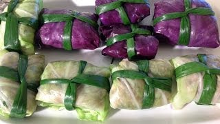 Rolled Stuffed Cabbage With Pork Canh Bap Cai Cuon Thit-Vietnamese Food
