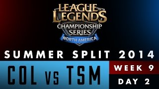 LCS NA Summer Split 2014 - Week 9 Day 2 - COL vs TSM