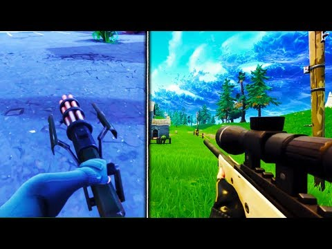 *NEW* 1ST PERSON MODE GAMEPLAY In Fortnite! - Fortnite Battle Royale All WEAPONS 1st Person Gameplay