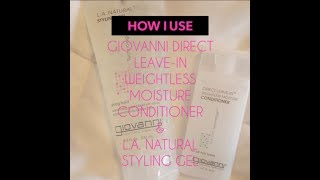 Hello Curly World! This is a brief video showing you how a typical wash day goes for me. I've been loving the Giovanni brand Direct Weightless Leave-in ...