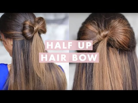 Half-up Hair Bow Cute Hair Tutorial (видео)