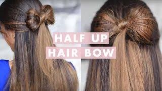 Half-up Hair Bow Cute Hair Tutorial - YouTube