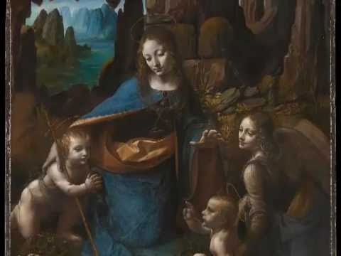 an analysis of the virgin of the rocks by leonardo da vinci In oil painting virgin of the rocks, leonardo da vinci used a pyramid composition with a sense of stabilityfour people were united in this stable structure the peak part was just the head of the virgin and the right contour edge of the pyramid was jesus's left hand and angel's clothing.