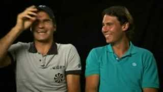 Roger Federer and Rafael Nadal, the world's No. 2 and No.1 tennis players, are arch rivals on the courts, but friends outside of the...
