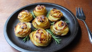 Potato Roses - How to Make Rose-Shaped Potato Gratins by Food Wishes