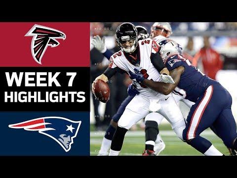 Falcons vs. Patriots | NFL Week 7 Game Highlights (видео)