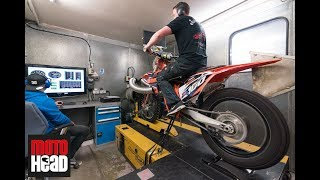 8. What a sound! Our 2018 KTM SX 150 two-stroke with Boyesen reeds on the dyno!