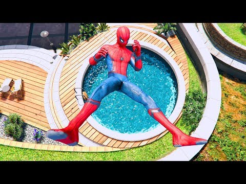 GTA 5 SPIDERMAN/Ragdolls Falls Compilation #7 (GTA 5 Fails Funny Moments/Ragdolls)