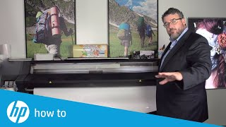 How to load the media into an HP Latex 300 series printer