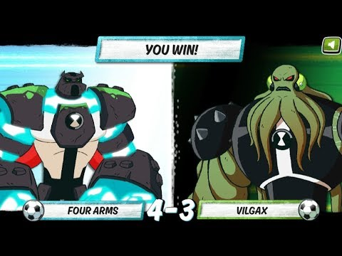 Ben 10 Game - Penalty Power Four Arms (Cartoon Network Games)