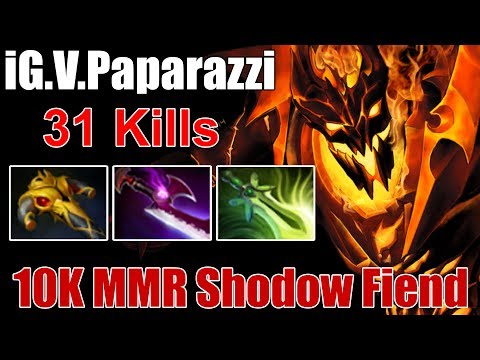 Shadow Fiend by IG.Paparazzi | 10k MMR is Real | Dota 2 Gameplay 2017