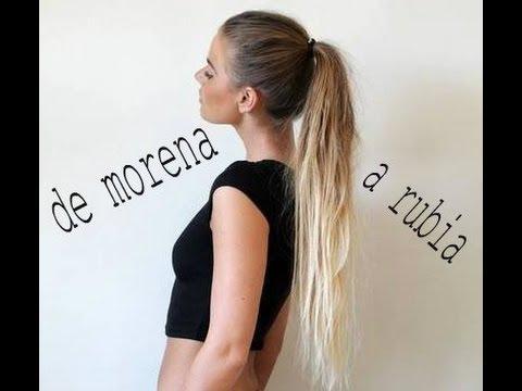 TINTE: DE MORENA A RUBIA EN UN DIA ♥