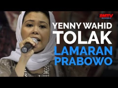Yenny Wahid Tolak Lamaran Prabowo