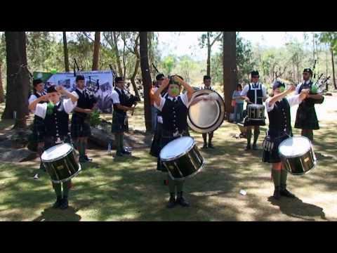 Concierto de la Banda de Gaitas del Batallon de San Patricio en el Arboretum