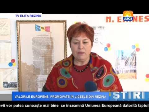AICI TV VALORILE EUROPENE, PROMOVATE ĂN LICEELE DIN REZINA