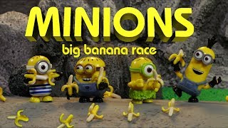 """Despicable Me 3 Minions take to the cars in this action packed Minions Mini Movie """"The Big Banana Race""""  So if you're ready for some Minion Mayhem then strap in and watch these Mega Bloks minifigs brought to life with stop-motion animation!  Critics are calling this Minions movie """"Straight up Bananas!""""When Despicable Me came out in theaters in 2010 the world would never be the same.  These yellow, lovable, mischievous Minions will forever be causing chaos to everyone in their paths.  Fun Facts:1) Over 75 Minions were used for the production2)  All the face animation and blinking was done in camera, with replacing the Minion with another Minion with a different facial expression3) Over 2 dozen bananas were used in the making of this movie4)  Minion Mayhem is one of my favorite rides at Universal Studios, and while my daughter and I were waiting in line for the ride is when I had the idea for this movie.5)  I have seen Despicable Me over 50 times6)  All the sets may look like LEGO but they are Mega Bloks. Only you can bring our dreams of a Finding Nemo LEGO set to reality support. VOTE HERE https://ideas.lego.com/projects/147252You can find us on: Twitter https://twitter.com/Digital_WizardsFacebook www.facebook.com/DigitalWizardsTVWebsite http://digitalwizards.tv"""