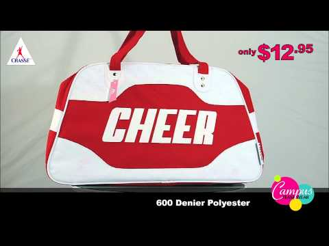 campusteamwearvideos - Chasse's Travel Bag with Double-Sided 'Cheer' logo is the perfect travel bag for those weekends away at cheer competitions. http://www.omnicheer.com/Cheer-Ba...
