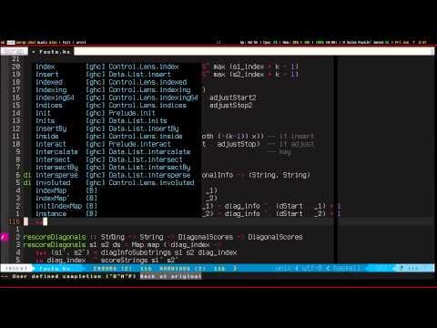 Haskell Live Coding - FASTA Algorithm, Part 8: Rescoring Diagonals