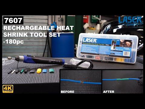7607 | Rechargeable Heat Shrink Tool Set-180 pc