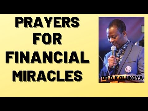 dr dk olukoya - Prayers For Financial Miracles MFM Prayers