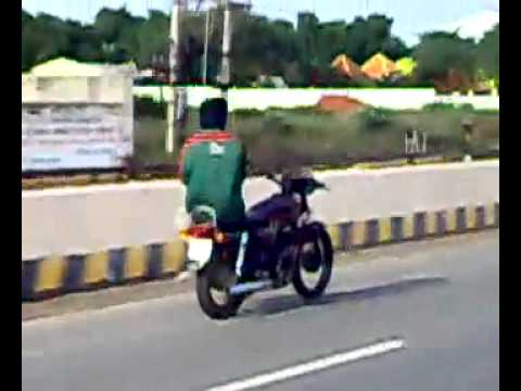 Mad Indian on a bike