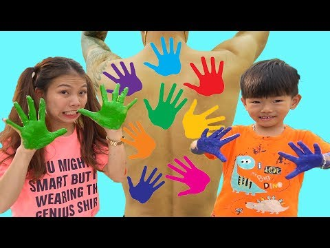 LEARN COLORS FOR CHILDREN BODY PAINT,Johny Johny Yes Papa, Bong TV