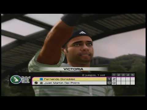 Virtua Tennis 4 – Fernando Gonzalez vs Juan Martin Del Potro.