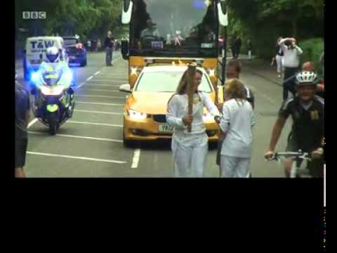 Rachel Flanders Carrying the Olympic Torch