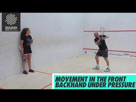 Squash tips: Movement In The Front Backhand Under Pressure with Jesse Engelbrecht