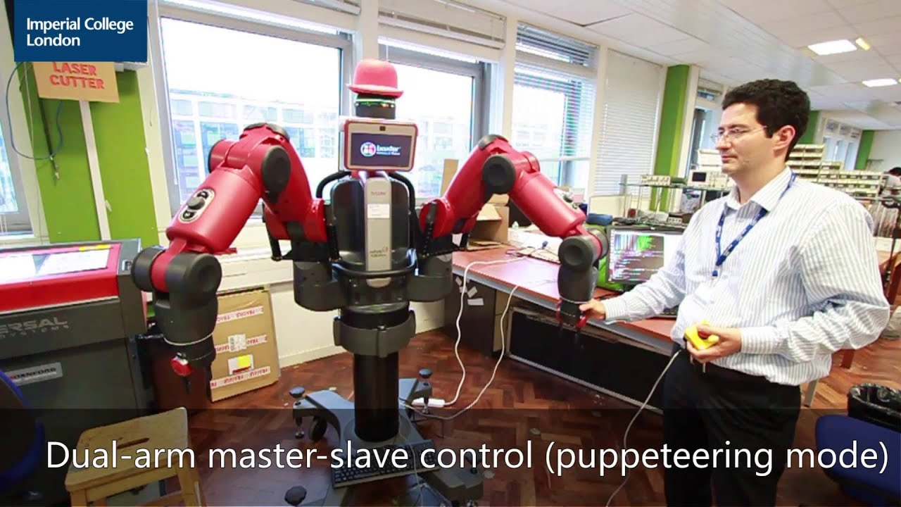 Testing the impedance controller and puppeteering contol mode on Robot DE NIRO