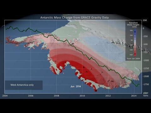 Antarctic Ice Mass Loss: Jan. 2004 - June 2014 видео
