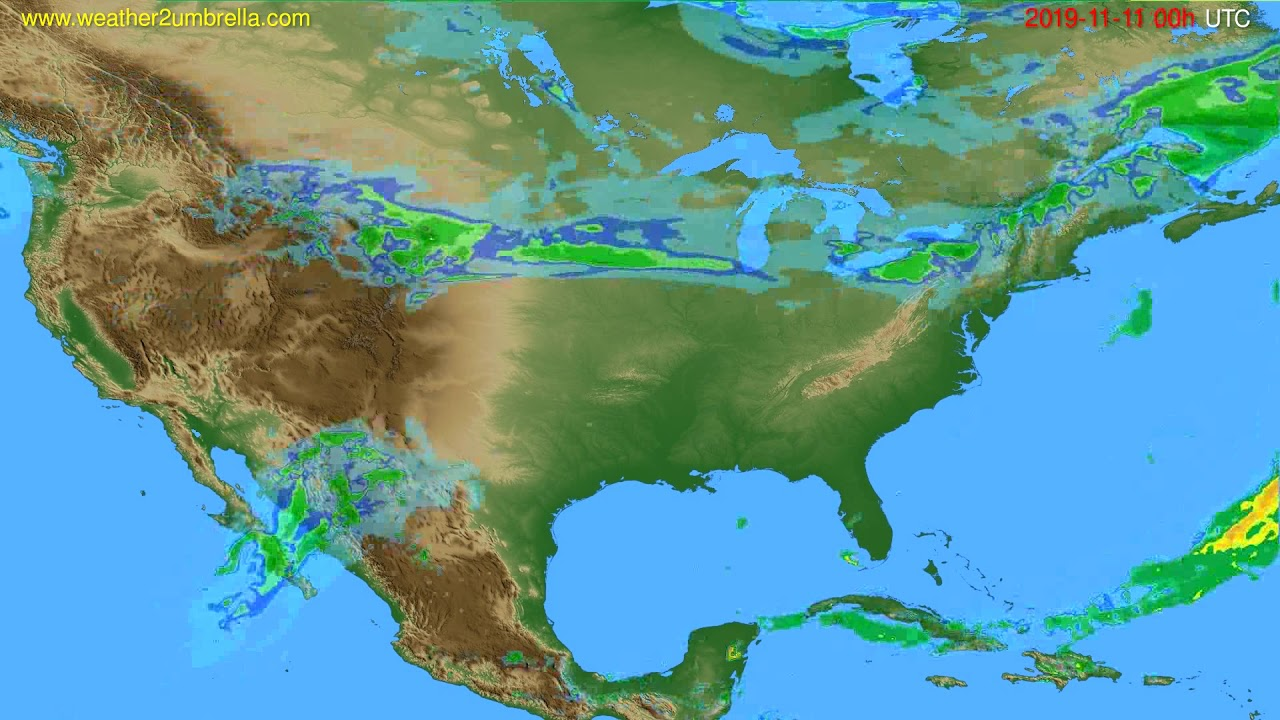 Radar forecast USA & Canada // modelrun: 12h UTC 2019-11-10