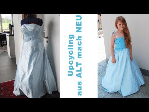 Prinzessinnenkleid nähen aus altem Abendkleid | Upcycling für Kinder