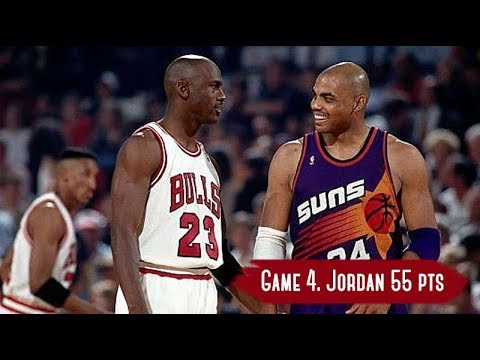 NBA Finals 1993. Phoenix Suns vs Chicago Bulls - Game Highlights | Game 4 | Jordan 55 HD 720p/60fps