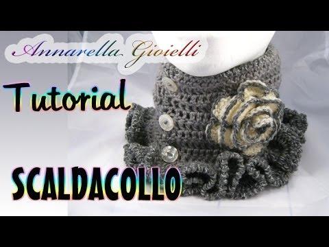 Tutorial scaldacollo uncinetto con punto gambero | How to crochet a scarf