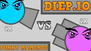 NEW DIEP.IO FUNNY MOMENTS!! // The Evil iX Story // Diep.io Tr...