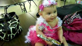 Adorable baby in pageant - Lilah