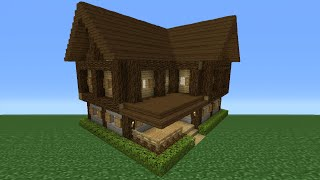 Minecraft Tutorial: How To Make A Small Survival House - 3