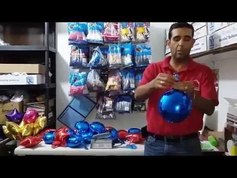 Como inflar y sellar un globo metálico