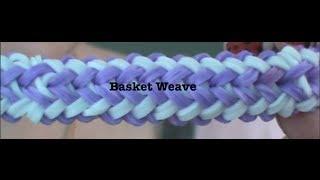 Rainbow Loom: Basket Weave ONE LOOM! - YouTube
