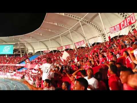 VÍDEO  CANTO LA POPULAR ES UN CARNAVAL BRS  ENTRADA DE BOMBOS Y BANDERAS - Baron Rojo Sur - América de Cáli