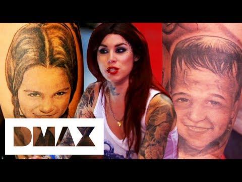 Mother Wants Her Kids Tattooed As Wednesday Addams & Frankenstein | LA Ink