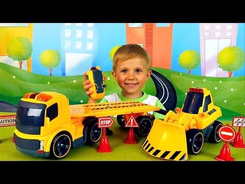 Рабочие Машинки  для детей на радиоуправлении - Обзоры Игрушек от Даника онлайн видео